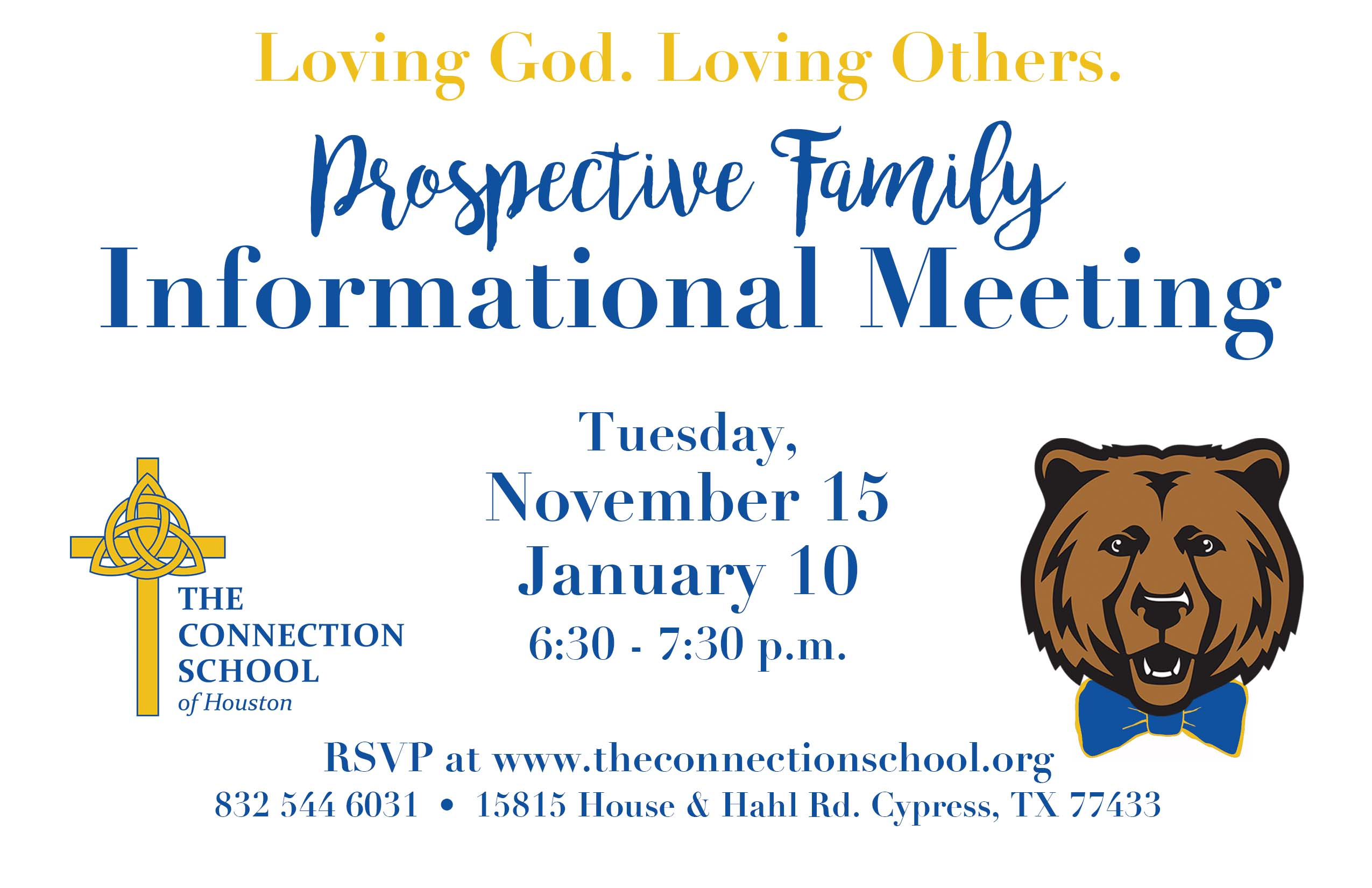 prospective family informational meeting the connection school prospective family informational meeting the connection school of houston
